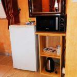 espace cuisine dans la chambre de l'Escale Provençale
